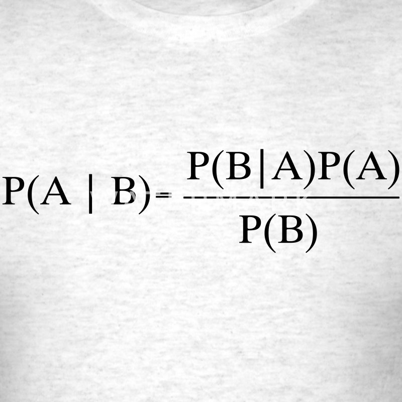 Bayes Theorem T-Shirts - Men's T-Shirt