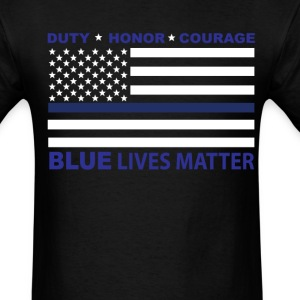 Blue Lives Matter Decal T-Shirts - Men's T-Shirt