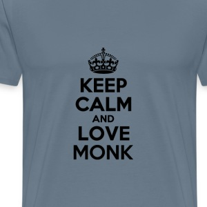 Keep calm and love monk T-Shirts - Men's Premium T-Shirt