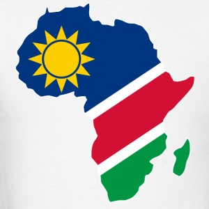 Namibia Flag In Africa Map - Men's T-Shirt