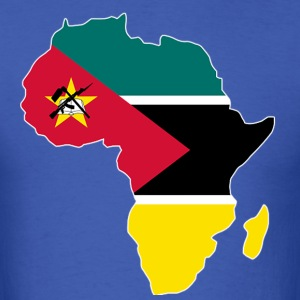 Mozambique Flag In Africa Map - Men's T-Shirt