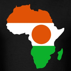 Niger Flag In Africa Map T-Shirt - Men's T-Shirt