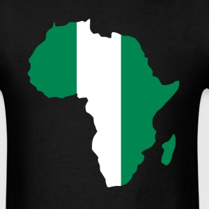 Nigeria Flag In Africa Map - Men's T-Shirt