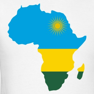 Rwanda Flag In Africa Map T-Shirt - Men's T-Shirt