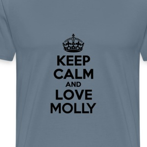 Keep calm and love molly T-Shirts - Men's Premium T-Shirt