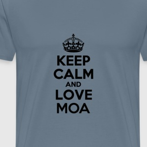 Keep calm and love moa T-Shirts - Men's Premium T-Shirt