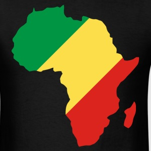 Republic Of Congo In Africa Map T-Shirt - Men's T-Shirt