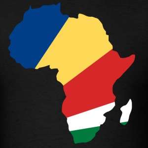 Seychelles Flag In Africa Map T-Shirt - Men's T-Shirt