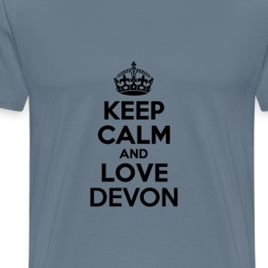 Keep calm and love devon T-Shirts - Men's Premium T-Shirt