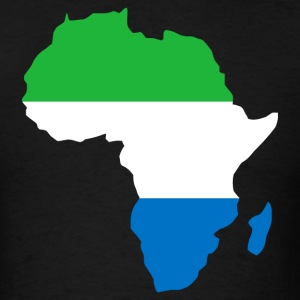 Sierra Leone Flag In Africa Map T-Shirt - Men's T-Shirt
