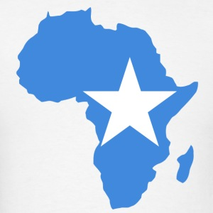 Somalia Flag In Africa Map T-Shirt - Men's T-Shirt