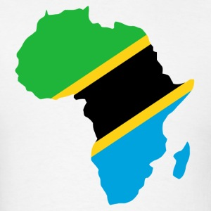 Tanzania Flag In Africa Map T-Shirt - Men's T-Shirt