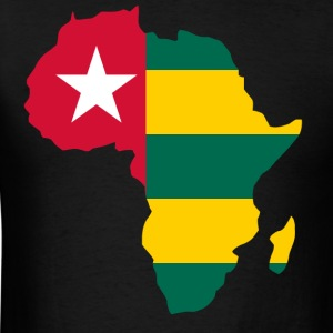 Togo Flag In Africa Map - Men's T-Shirt