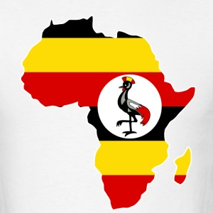 Uganda Flag In Africa Map T-Shirt - Men's T-Shirt