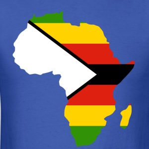 Zimbabwe Flag In Africa Map T-Shirt - Men's T-Shirt