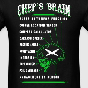 Chef's Brain Shirt - Men's T-Shirt