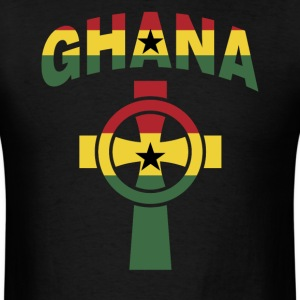 Ghana Christian Cross Ghana Flag T-Shirt - Men's T-Shirt