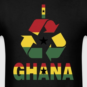 I Recycle Ghana Flag T-Shirt - Men's T-Shirt
