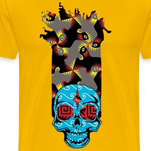 90s KID SKULLY T-Shirts - Men's Premium T-Shirt