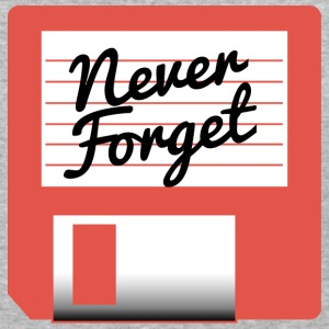 Never Forget Diskette T-Shirts - Baseball T-Shirt