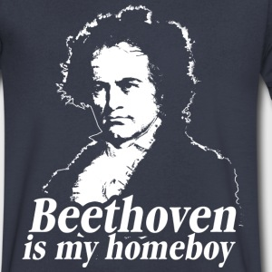 Beethoven Is My Homeboy T-Shirts - Men's V-Neck T-Shirt by Canvas