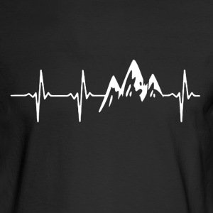 Mountain In My Heartbeat - Men's Long Sleeve T-Shirt