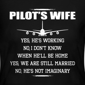 Pilot's Wife Shirt - Women's Long Sleeve Jersey T-Shirt
