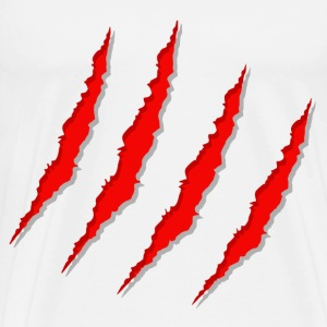 red claw scratched - Men's Premium T-Shirt