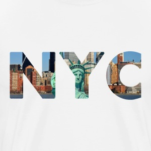 NYC (New York City) text design men's t-shirt - Men's Premium T-Shirt