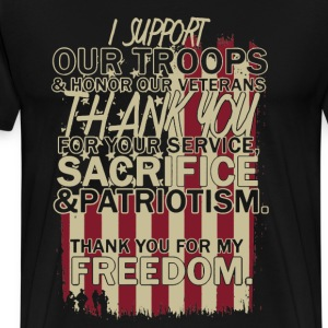 Support Our Troop Shirt - Men's Premium T-Shirt