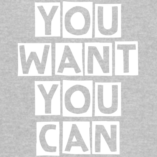 """Vintage Sport T-Shirt """"You Want You Can"""" - Blue"""