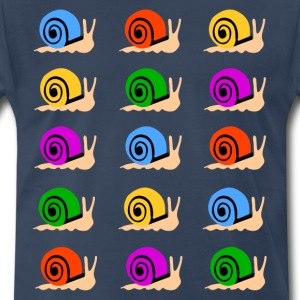 colorful snails shirt - Men's Premium T-Shirt