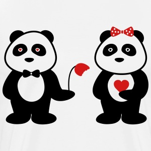 panda in love - Men's Premium T-Shirt