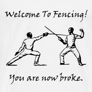 Fencing Broke - Men's Premium T-Shirt