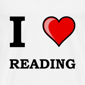 I Heart Reading - Men's Premium T-Shirt