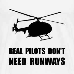 Helicopter Pilot Runways - Men's Premium T-Shirt