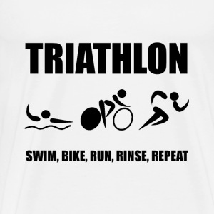 Triathlon Rinse Repeat - Men's Premium T-Shirt