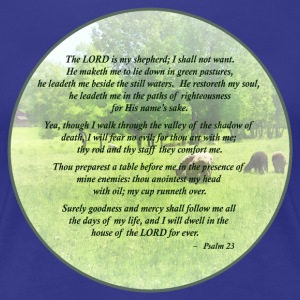 Psalm 23 The Lord Is My Shepherd T-Shirts - Women's Premium T-Shirt