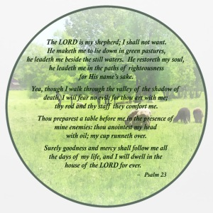 Psalm 23 The Lord Is My Shepherd Other - Mouse pad Horizontal