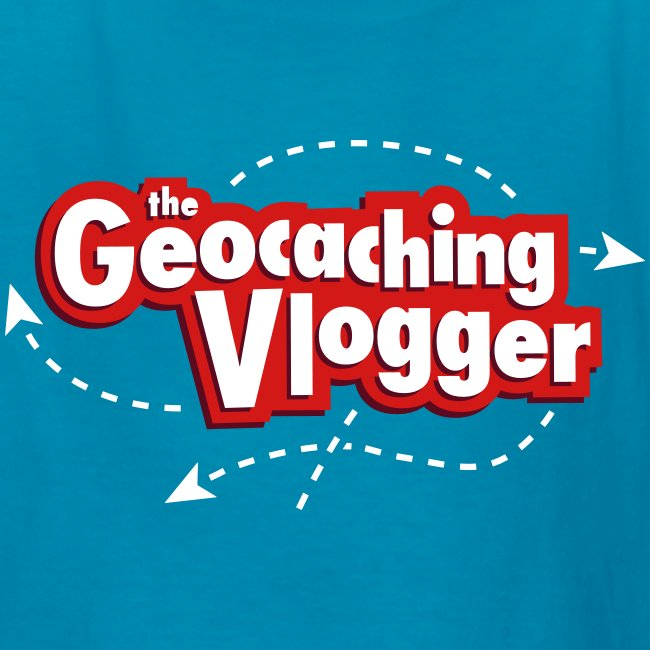 Geocaching Vlogger Kid's T-Shirt (turquoise)