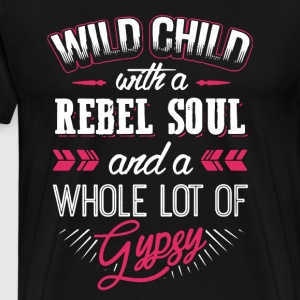 Wild Child With Rebel Soul - Men's Premium T-Shirt