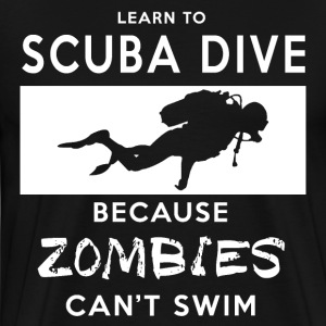 Funny Zombie Scuba Diving T-Shirt  - Men's Premium T-Shirt