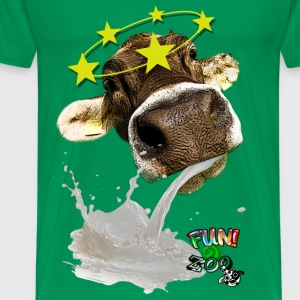 TROW UP COW ! (BLACK) - Men's Premium T-Shirt