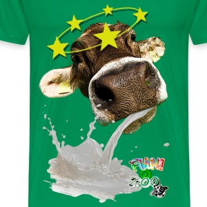 TROW UP COW ! (WHITE) - Men's Premium T-Shirt