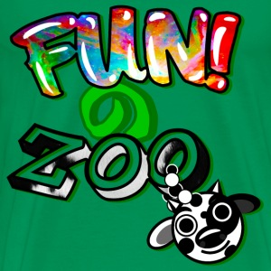 FUNのZOO COW (BLACK) - Men's Premium T-Shirt