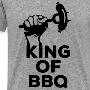 King of BBQ grill barbecue sausage T-Shirts - Men's Premium T-Shirt