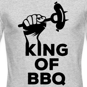 King of BBQ grill barbecue sausage Long Sleeve Shirts - Men's Long Sleeve T-Shirt by Next Level