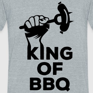 King of BBQ grill barbecue sausage T-Shirts - Unisex Tri-Blend T-Shirt by American Apparel
