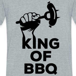 King of BBQ grill barbecue sausage T-Shirts - Unisex Tri-Blend T-Shirt