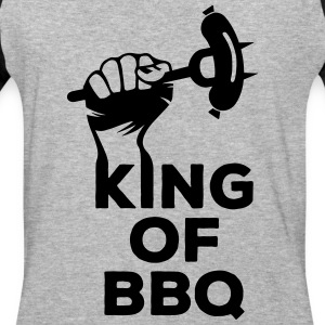 King of BBQ grill barbecue sausage T-Shirts - Baseball T-Shirt